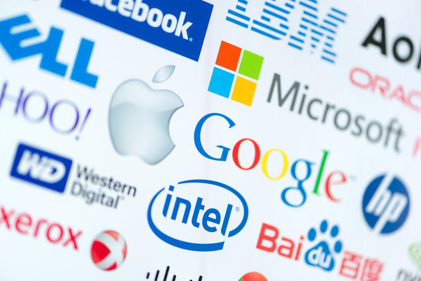 Marcas de compañías tecnológicas.